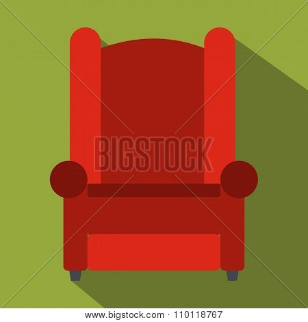 Armchair flat icon
