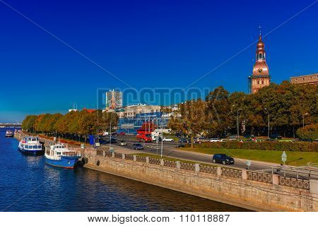 Old Town and River Daugava, Riga, Latvia