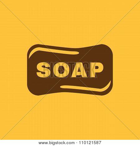 The soap icon.  Soap symbol. Flat