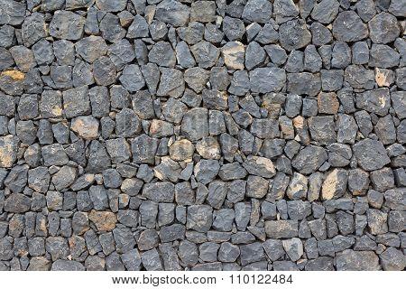 Natural Stone Wall Background - Dark Rocks
