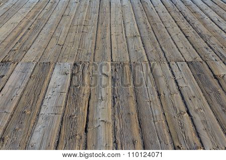 Aged Wooden Pier / Plattform -  Wooden Floor, Wood Flooring