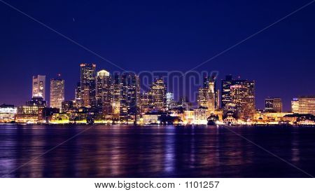 Boston Nacht skyline