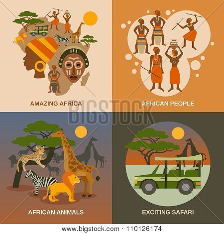 Africa Concept Icons Set