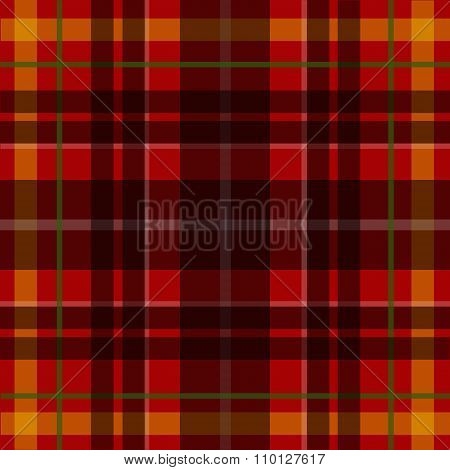 Vector seamless scottish tartan pattern in red black and yellow