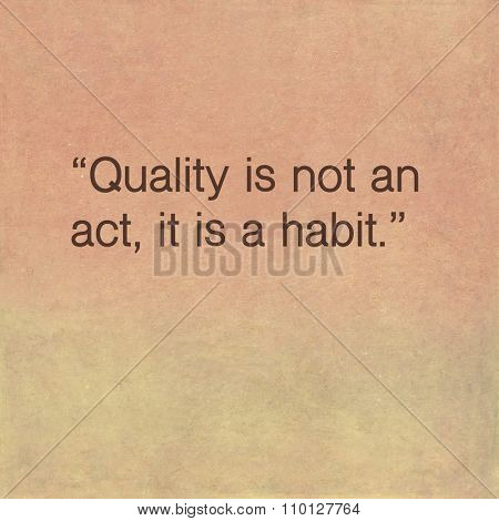 Inspirational quote by ancient Greek philosopher Aristotle on earthy background