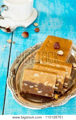 Traditional Oriental Sweets - Sherbet Chocolate With Hazelnuts