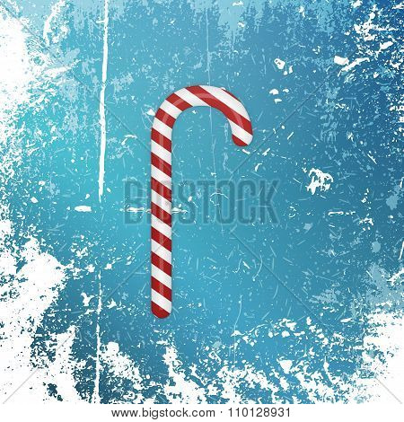 Realistic Christmas striped sweet Candy Cane