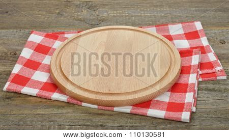 Boards For Pizza And Red Cloth