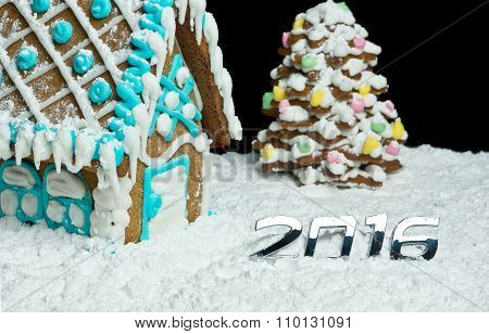 Gingerbread House And Digits 2016