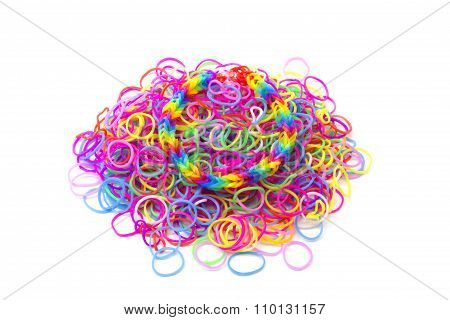 Rainbow loom Colored rubber bands for weaving accessories