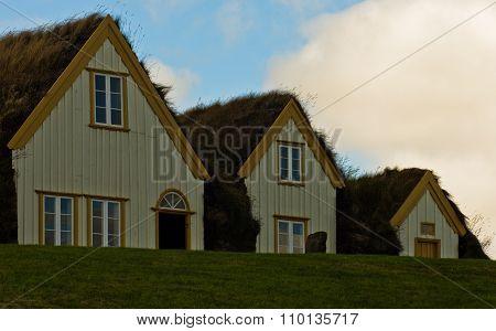 19th century turf houses at Glaumbaer farm