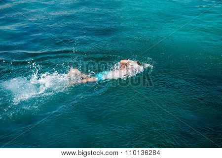 Swimmer in water