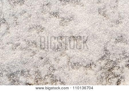 Abstract Bumpy Texture Of A Winter Snowdrift