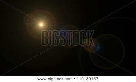Spotlight Round Circle Lens Flare Yellow