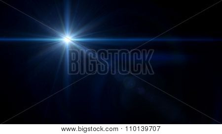 Twinkle Star Cross Lens Flare Blue