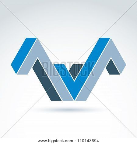 Vector Abstract Element Created From Checkmarks. Geometric Symbol Isolated On White Background, Corp