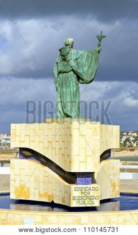 Statue of the Portuguese Patron Saint of fishermen in the Algarve S. Goncalo de Lagos