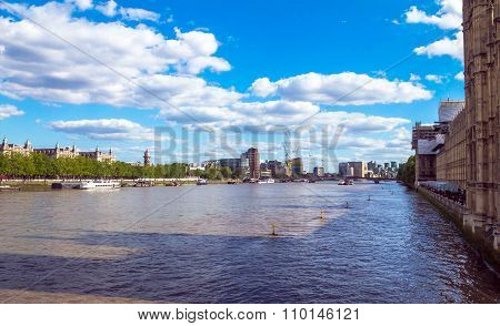 River Thames near Houses Of Parliament. London