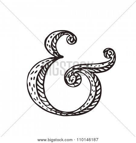 Custom ampersand for decoration. Vector illustration