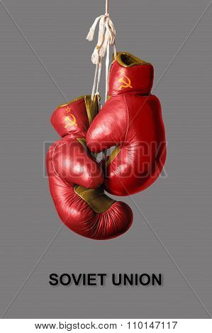 Boxing Gloves In The Color Of Soviet Union