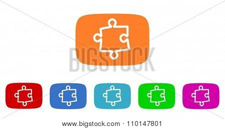 puzzle flat design modern icon