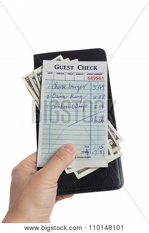 Guest Check And Dollar
