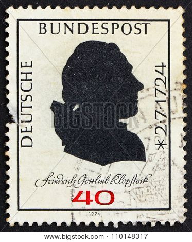 Postage Stamp Germany 1974 Friedrich Gottlieb Klopstock, Poet