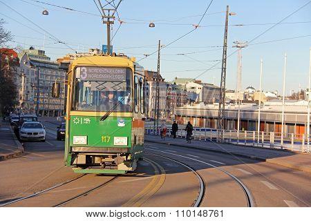 Green Helsinki Tram