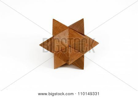Wooden Puzzle Star-shaped