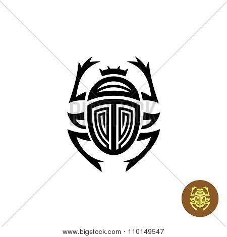 Scarab Tattoo Logo Vector Sign