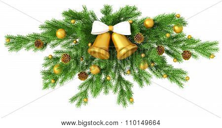 Christmas Decoration Isolated 3D Rendering