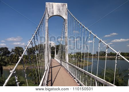 Suspension Bridge in Udon Thani Park