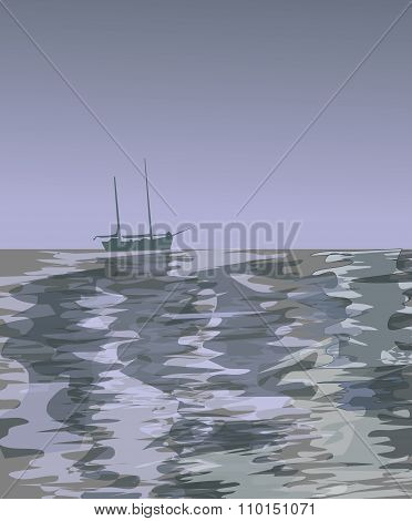 Sailboat on the Ocean