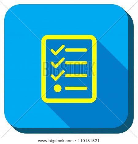 Task List Longshadow Icon