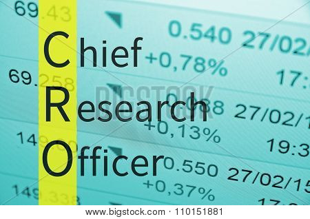 Chief research officer