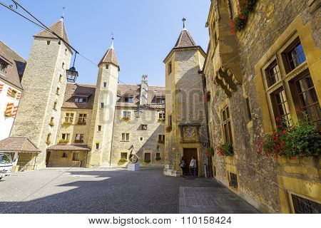 Neuchatel, Courtyard Of The Castle