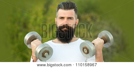 Man With Dumbells