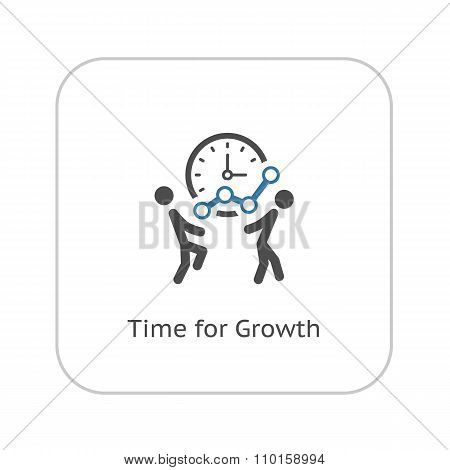 Time for Growth Icon. Business Concept.