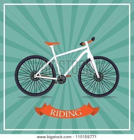 Retro Bicycle Background Vector Illustrator