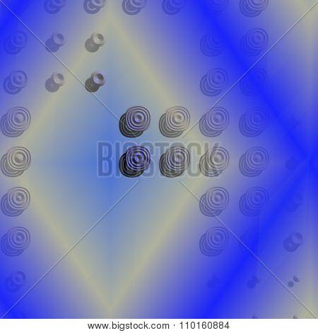 yellow rhombus and circles