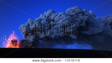 Eyjafjallajokull volcano iceland