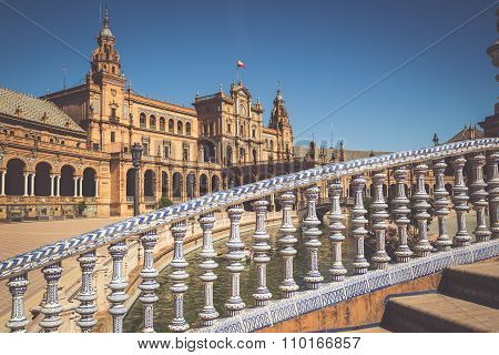 Spanish Square (plaza De Espana) In Sevilla, Spain