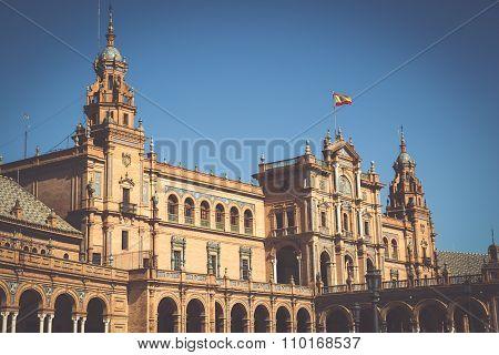 Beautiful Plaza De Espana, Sevilla, Spain
