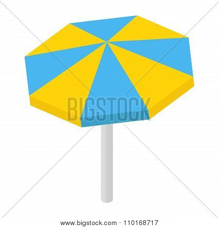 Beach sunshade isometric 3d icon