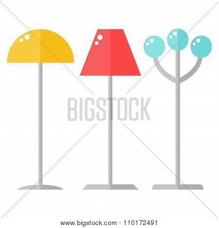 Floor lamps.