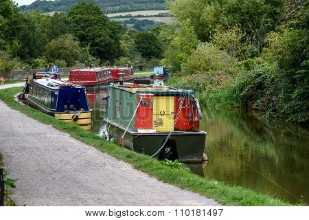 Barges On River Avon Uk