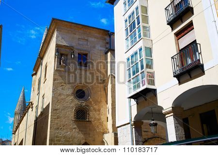 Burgos way to Cathedral on Saint James Way at Castilla Leon of Spain