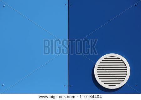 Ventilation system and circle vent window on a wall