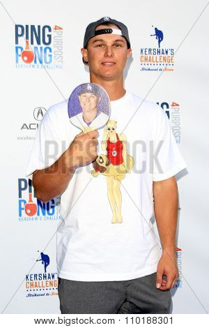 LOS ANGELES - JUL 30:  Joc Pederson at the Clayton Kershaw's 3rd Annual Ping Pong 4 Purpose at the Dodger Stadium on July 30, 2015in Los Angeles, CA