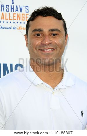 LOS ANGELES - JUL 30:  Jerry Hariston Jr at the Clayton Kershaw's 3rd Annual Ping Pong 4 Purpose at the Dodger Stadium on July 30, 2015in Los Angeles, CA
